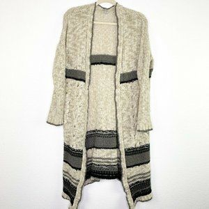 Ecoté Anthropologie Knit Open Front Long Cardigan